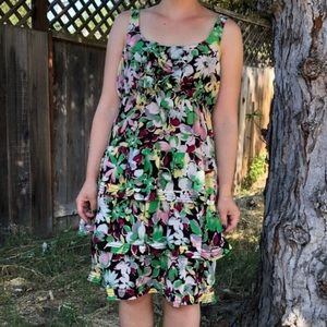 Anthro/ Moulinette Soeurs Akebia Silk Floral Dress